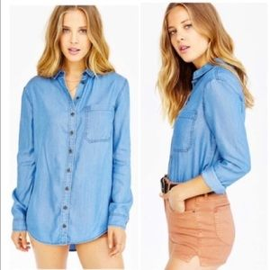 Urban Outfitters BDG Chambray Top Size S